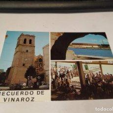Postales: CASTELLÓN - POSTAL VINAROZ - IGLESIA - PLAZA TOROS Y LONJA. Lote 195125145