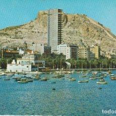 Postales: (55) ALICANTE. CASTILLO DE SANTA BARBARA Y PUERTO. Lote 195135143