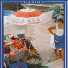 Postales: (300) GANDIA. VALENCIA . EL GRAO. VENTA AMBULANTE DE MARISCO . Lote 195135551
