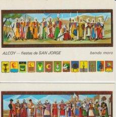 Postales: 2 POSTALES DE ALCOY . ALICANTE. .. FIESTAS DE SAN JORGE (BANDO MORO Y CRISTIANO) ... SIN CIRCULAR. Lote 195135978