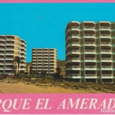 Postales: (1) CAMPELLO. ALICANTE. PARQUE EL AMERADOR ... 1 ESQUINA CON DOBLEZ. Lote 195136753