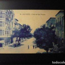 Postales: ALICANTE, CALLE SAN VICENTE.. Lote 195222632
