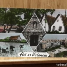Postales: POSTAL ASÍ ES VALENCIA.BARRACAS,PLAZA CAUDILLO,CAMPING DEL SALER.... Lote 195240915