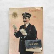 Postales: POSTAL. RECUERDO DE ALICANTE. SELLO EN RELIEVE CASA REAL. H. 1915?.. Lote 195270691
