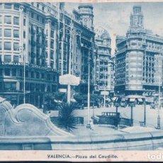 Postales: POSTAL VALENCIA - PLAZA DEL CAUDILLO - J D P. Lote 195308506