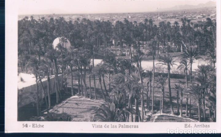 POSTAL ELCHE - VISTA DE LAS PALMERAS - ARRIBAS 54 (Postales - España - Comunidad Valenciana Antigua (hasta 1939))