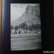 Postales: ALICANTE, LA CARA DEL CASTILLO.. Lote 195359516