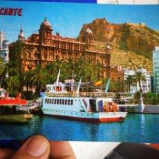 Postales: POSTAL ALICANTE DETALLE DEL PUERTO AL FONDO E L CASTILLO N 213 PAPISA S/C. Lote 195370516