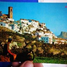 Postales: POSTAL ALTEA ALICANTE VISTA PINTORESCA AL FONDO EL PEÑÓN DE IFACH N 5 GALIANA S/C. Lote 195377650