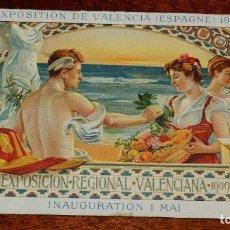 Postales: FOLLETO PUBLICITARIO ORIGINAL DE VALENCIA, EXPOSICION REGIONAL VALENCIANA 1909, 1º DE MAYO, LIT. DUR. Lote 195813988