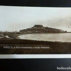 Postales: PEÑISCOLA CASTELLON VISTA PANORAMICA DESDE PONIENTE. Lote 196230493