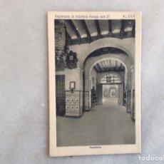 Postales: ALCOY. REGIMIENTO DE INFANTERÍA.VIZCAYA NÚMERO 21. Lote 197112050