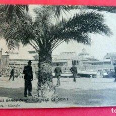 Postales: TARJETA POSTAL - ALICANTE Nº 1 LOA BAÑOS DESDE PASEO GOMIZ - ESCRITA 1906 CON SELLO - . Lote 197236323