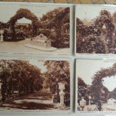 Postales: LOS VIVEROS JARDINES DE VALENCIA LOTE 5 POSTALES ANTIGUAS COLOR SEPIA. GRAFICAS VILLARROCA Y JDP. Lote 198831113