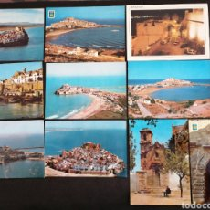 Postales: PEÑISCOLA, VALENCIA. LOTE DE 10 POSTALES. Lote 199297233