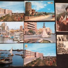 Postales: CASTELLON DE LA PLANA, LOTE DE 8 POSTALES. Lote 199298461