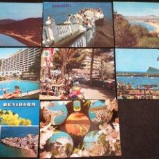 Postales: BENIDORM ALICANTE, LOTE DE 8 POSTALES. Lote 199298940