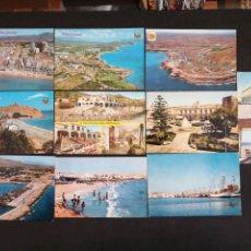 Postales: CABO ROIG, VILLAJOYOSA, SANTA POLA, ALICANTE. LOTE DE 10 POSTALES. Lote 199299576
