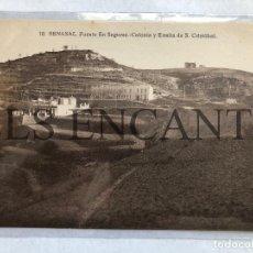 Postales: POSTAL BENASAL FUENTE EN SEGURES COLONIA Y ERMITA DE S CRISTOBAL EDITA MACHI SIN CIRCULAR. Lote 199710883