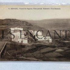 Postales: POSTAL BENASAL FUENTE EN SEGURES VISTA PARCIAL BALNEARIO EDITA MACHI SIN CIRCULAR. Lote 199711285