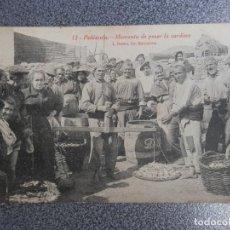 Postales: VALENCIA C CASTELLON PEÑISCOLA MOMENTO DE PESAR LA SARDINA POSTAL ANTIGUA. Lote 201230180