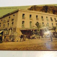 Postais: GRAN HOTEL IBORRA , ALICANTE COLOREADA, REVERSO PUBLICITARIO ,VER FOTOS RARA. Lote 202470738