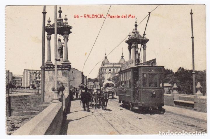 VALENCIA PUENTE DEL MAR, ED. THOMAS 56 (Postales - España - Comunidad Valenciana Antigua (hasta 1939))
