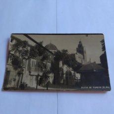 Postales: POSTAL ANTIGUA CIUDAD DE ELDA, PLAZA DE TOPETE. Lote 203618312
