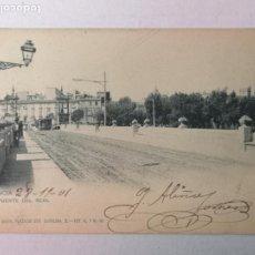 Postales: VALENCIA PUENTE DEL REAL 1901. Lote 203868622