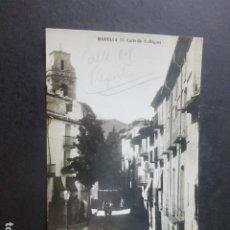 Postales: MORELLA CASTELLON CALLE DE SAN MIGUEL. Lote 203968362