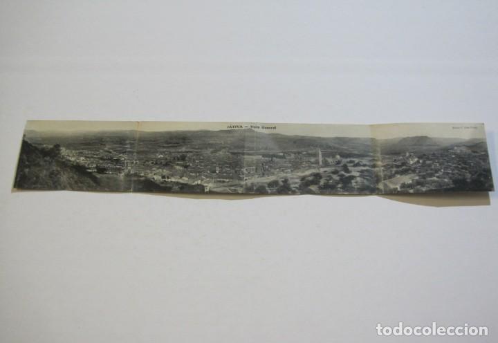 JATIVA-VISTA GENERAL-POSTAL PANORAMICA CUADRUPLE-POSTAL ANTIGUA-(70.300) (Postales - España - Comunidad Valenciana Antigua (hasta 1939))