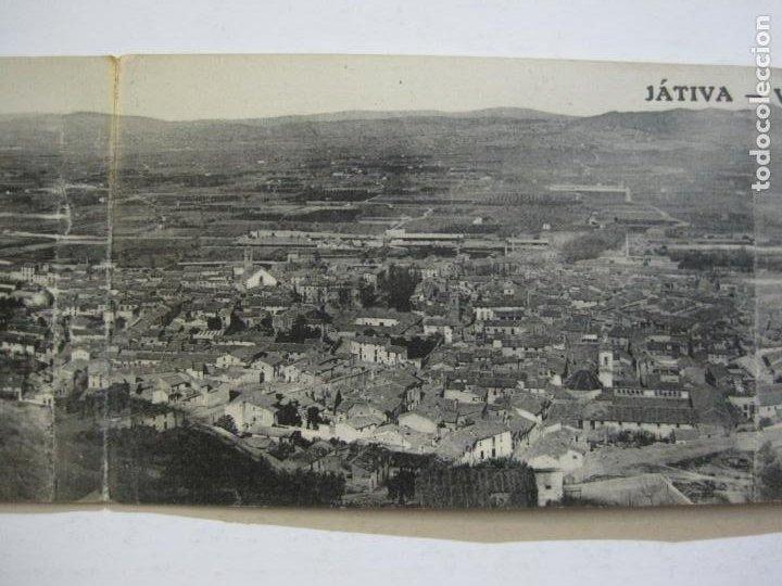 Postales: JATIVA-VISTA GENERAL-POSTAL PANORAMICA CUADRUPLE-POSTAL ANTIGUA-(70.300) - Foto 3 - 204816127