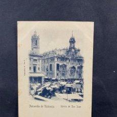 Postales: TARJETA POSTAL. RECUERDOS DE VALENCIA. IGLESIA DE SAN JUAN. COLECCION O. Nº 8.. Lote 204987565