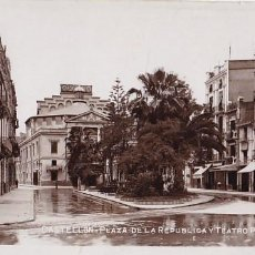 Postales: CASTELLON PLAZA REPUBLICA Y TEATRO PRINCIPAL. POSTAL FOTOGRAFICA SIN CIRCULAR. Lote 205042142