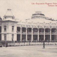 Postales: VALENCIA EXPOSICION REGIONAL TERRAZAS DEL GRAN CASINO. ED.THOMAS Nº 128. SIN CIRCULAR. Lote 205045523