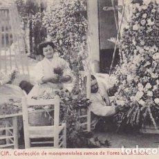 Postales: VALENCIA CONFECCION DE RAMOS DE FLORES EN EL HUERTO. ED.THOMAS Nº 79. SIN CIRCULAR. Lote 205045791