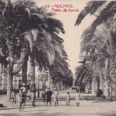 Postales: ALICANTE PASEO DE GOMIZ. ED.THOMAS Nº 19. SIN CIRCULAR. Lote 205047052