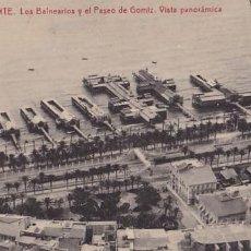 Postales: ALICANTE LOS BALNEARIOS Y PASEO DE GOMIZ. ED.THOMAS Nº 22. SIN CIRCULAR. Lote 205047908