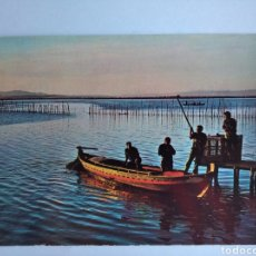 Postales: POSTAL 24 VALENCIA ALBUFERA PUESTO DEL SOL AÑO 1968 FOTOS CARRETERO. Lote 205273202