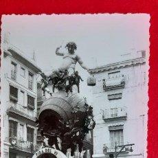 Postales: FOTO VALENCIA FALLA PLAZA LA MERCE TAMAÑO POSTAL ORIGINAL P912. Lote 205362796