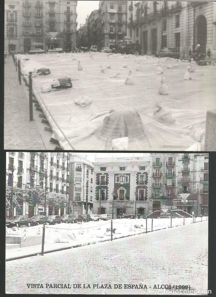 ALCOY 8 POSTALES ANTIGUAS SON REEDICIONES HECHAS HACE AÑOS. (Postales - España - Comunidad Valenciana Moderna (desde 1940))