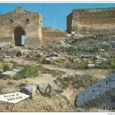 Postales: == C511 - POSTAL - RECUERDO DE SAGUNTO - RUINAS FORUM ROMANO Y PUERTA DE LA ALMERIA. Lote 206599202