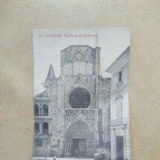 Postales: POSTAL 87- VALENCIA, PUERTA DE LOS APOSTOLES. Lote 206883253