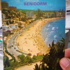 Postales: POSTAL BENIDORM PLAYA DE PONIENTE N 183 GALIANA 1988 ESCRITA Y SELLADA A ESTADO PEGADA. Lote 207069050