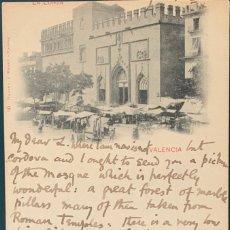 Postales: VALENCIA, LA LONJA. HAUSER Y MENET Nº 80. ESCRITA Y CIRCULADA 1901.. Lote 207343182