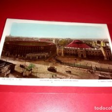 """Postales: VALENCIA """" ESTACION DEL NORTE Y PLAZA DE TOROS """" ESCRITA Y SELLADA CON SELLO REPUBLICA 1935. Lote 207704876"""