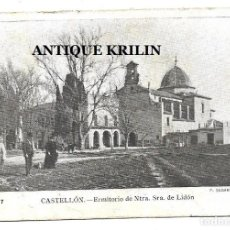 Postales: CASTELLON .- ERMITORIO DE NTRA. SRA. DE LIDON .- EDICION F. SEGARRA SERIE B Nº 7. Lote 208397903
