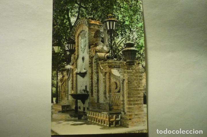 POSTAL CARCAGENTE - FUENTE DEL PARQUE.-COLOREADA (Postales - España - Comunidad Valenciana Moderna (desde 1940))