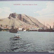 Postales: POSTAL. ALICANTE. PANORAMA DESDE LA FARALA. BAZAR ARCA DE NOE. Lote 210358032