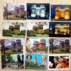 Postales: LOTE 63 POSTALES VALENCIA CIUDAD: TORRES SERRANOS, VIRGEN, LONJA, CATEDRAL.... Lote 210604081